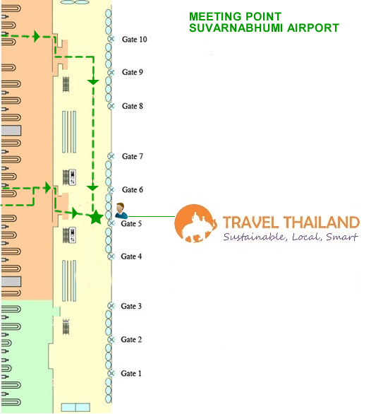 Meeting Point at Suvarnabhumi Airport TravelThailand